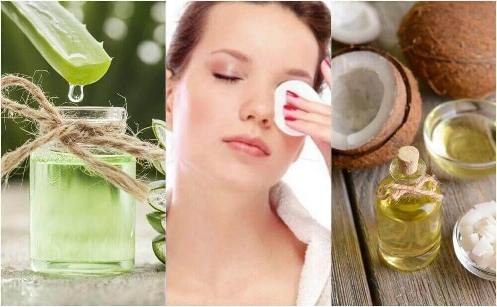 5 naturliga sminkborttagare och ansiktsmasker i ett