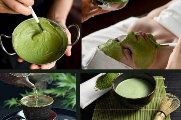 Grön mask mot hudproblem