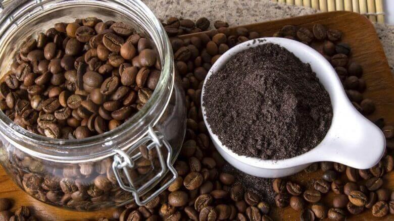 Ingredienser till recept med kaffe