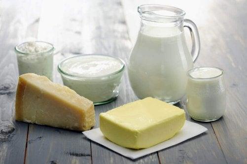Mejeriprodukter innehåller A-vitamin
