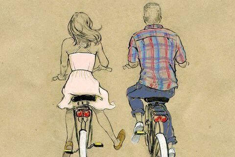 En cykel är en bra detalj för vintagestil