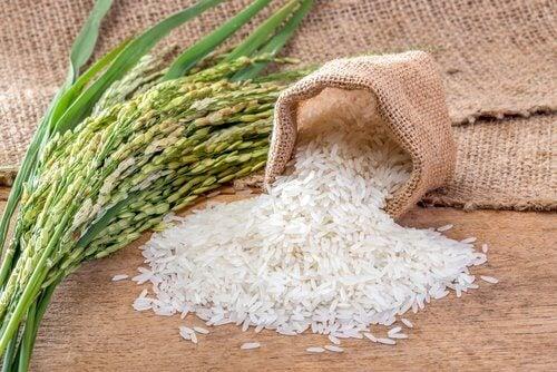 Ris stimulerar kollagenproduktionen