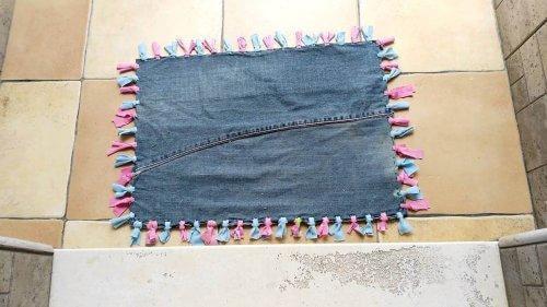 återvinna gamla jeans matta