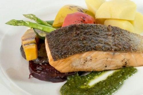 Fet fisk är utmärkt mat