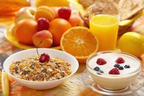 försöker gå ner i vikt frukost