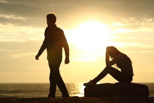 Att den ena partnern gör slut kan krossa ett hjärta