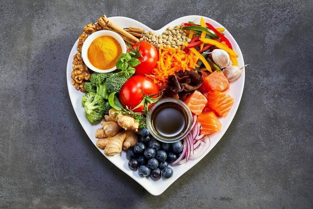 Tallrik med sund mat