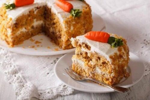 Läcker fettsnål, äggfri vegansk morotskaka