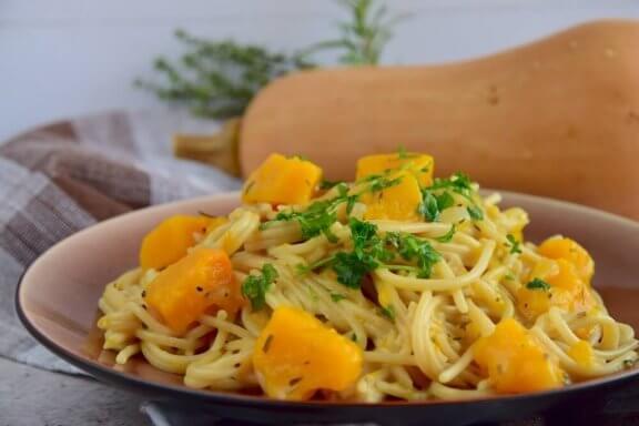 Missa inte detta utsökta recept med spaghetti och pumpa