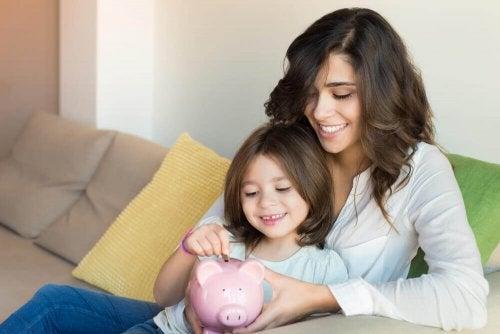 Lär dina barn hur man sparar pengar