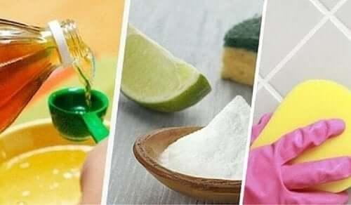 Naturliga produkter för rengöring.