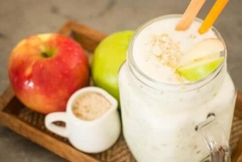 Bra för hjärtats hälsa: havre och äpplen