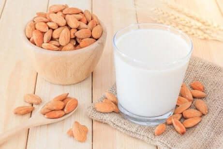Prova på en vegetabilisk mjölkdrink till mellanmål