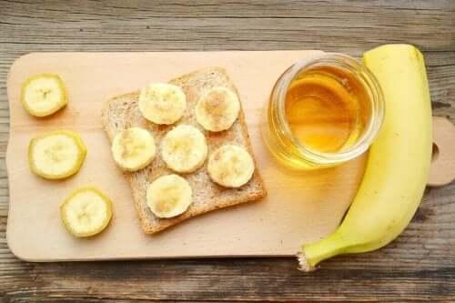 Banan och honung är nyttigt