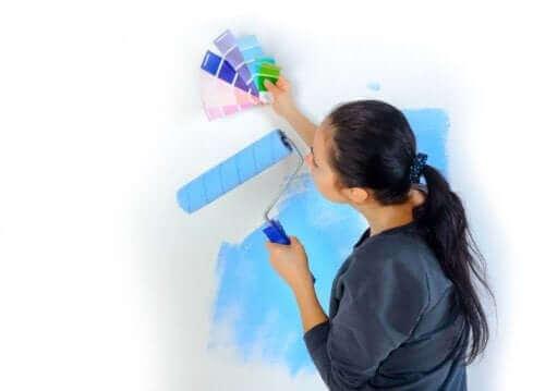Pastellfärger på väggarna