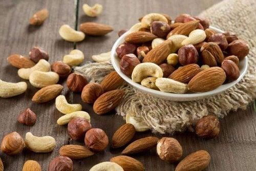 Nötter innehåller aminosyror