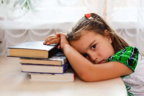 Flicka som sover dåligt