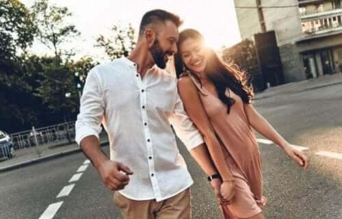 Glatt par på stan