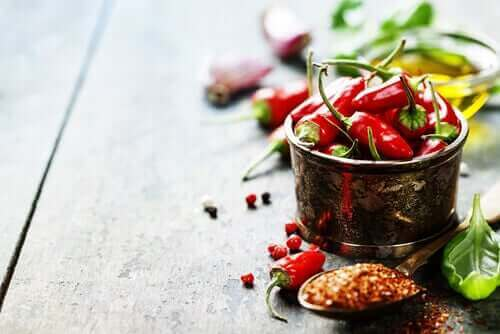 Kryddstark mat irriterar blåsan
