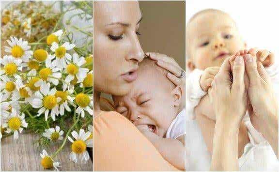 Fem naturliga kurer för kolik hos bebisar