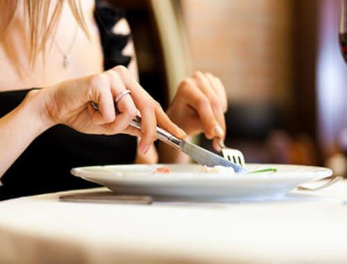 Ät långsamt för att tappa vikt