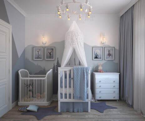 De fyra bästa färgerna för ett barns sovrum
