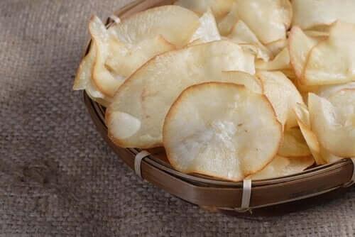 Chips på grönsaker