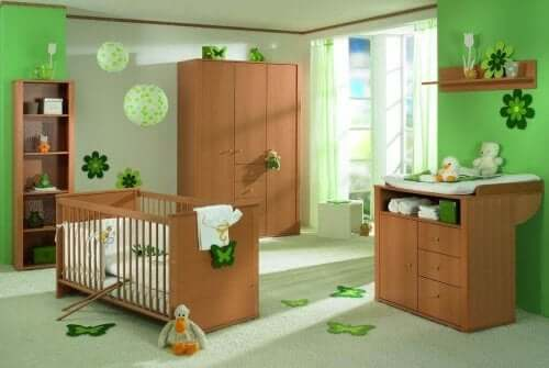 Ett grönt barnrum