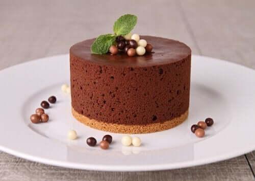 Hemgjord i chokladmousse