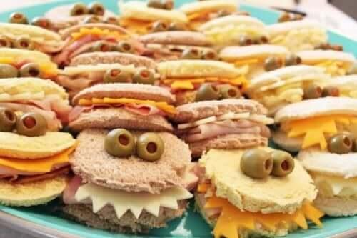 Smörgåsar med ögon