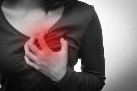 Bröstsmärta är ett symptom på akut kranskärlssjukdom