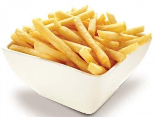 Pommes frites är väldigt onyttiga