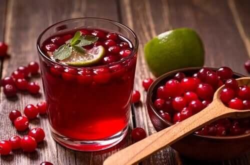 Recept på fruktinfusioner med tranbär
