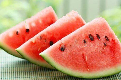Vattenmelon är renande