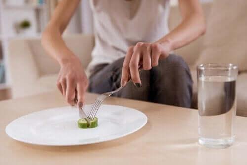 Ätstörningar är ett vanligt symptom