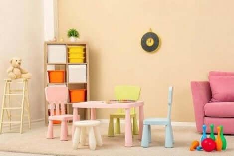 Att inreda ett barnrum minimalistiskt