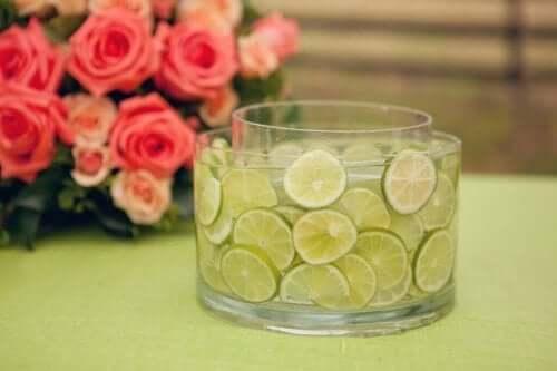 En vas med lime