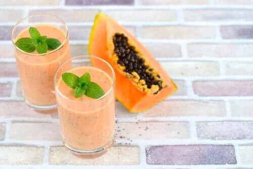 Kefir och papaya