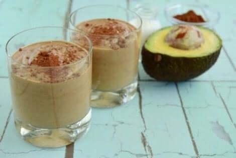 Krämig chokladdessert med avokado