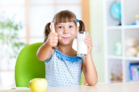 Mjölk är viktigt för barn