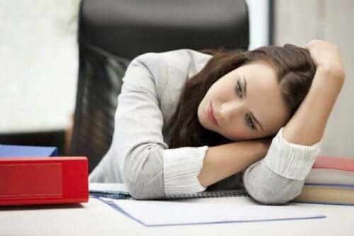 Trötthet är ett symptom på depression