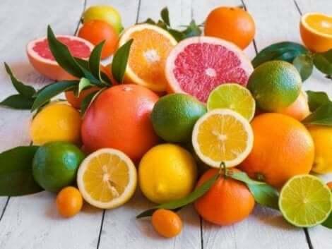 Citrusfrukter har mycket pektin