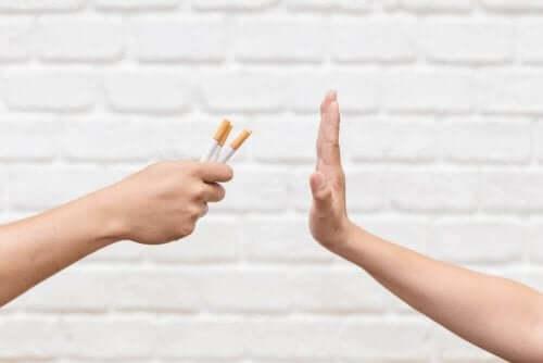 Säg nej till cigaretter.