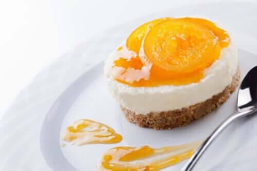 piña colada-cheesecake i portionsform