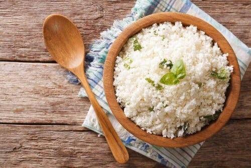 pasta och ris på kvällen: ris