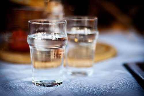 kost och njursvikt: två glas vatten
