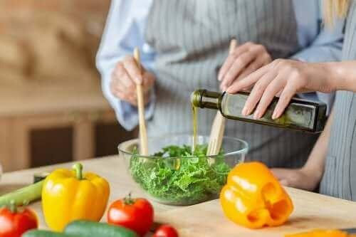 Olika typer av fetter är viktigt i kosten