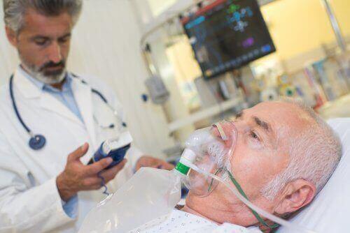 Patient får syrgas.