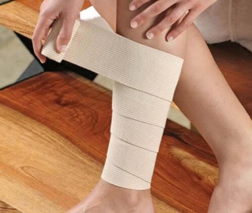 förband och bandage på vad