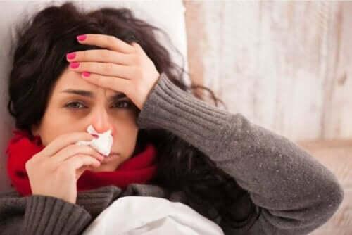 Influensa kan orsaka värk i kroppen